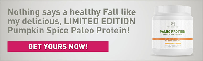 Container of Pumpkin Spice Paleo Protein