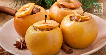 Walnut Baked Apple with Cinnamon Spice