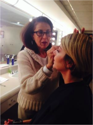 Dr. Myers getting makeup for the Dr. Oz Show. - Amy Myers MD®