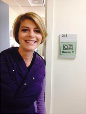 Dr. Myers Takes a moment for a picture while at the Dr. Oz Show set. - Amy Myers MD®