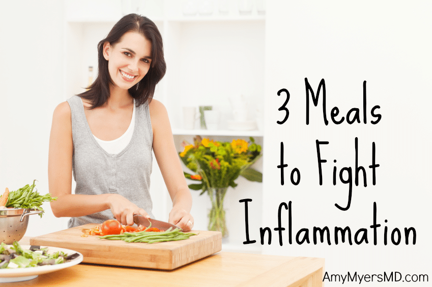 3 Meals to Fight Inflammation - A Woman Cutting Vegetables - Featured Image - Amy Myers MD®