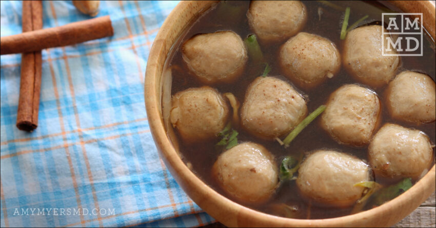 Sweet Meatball Soup