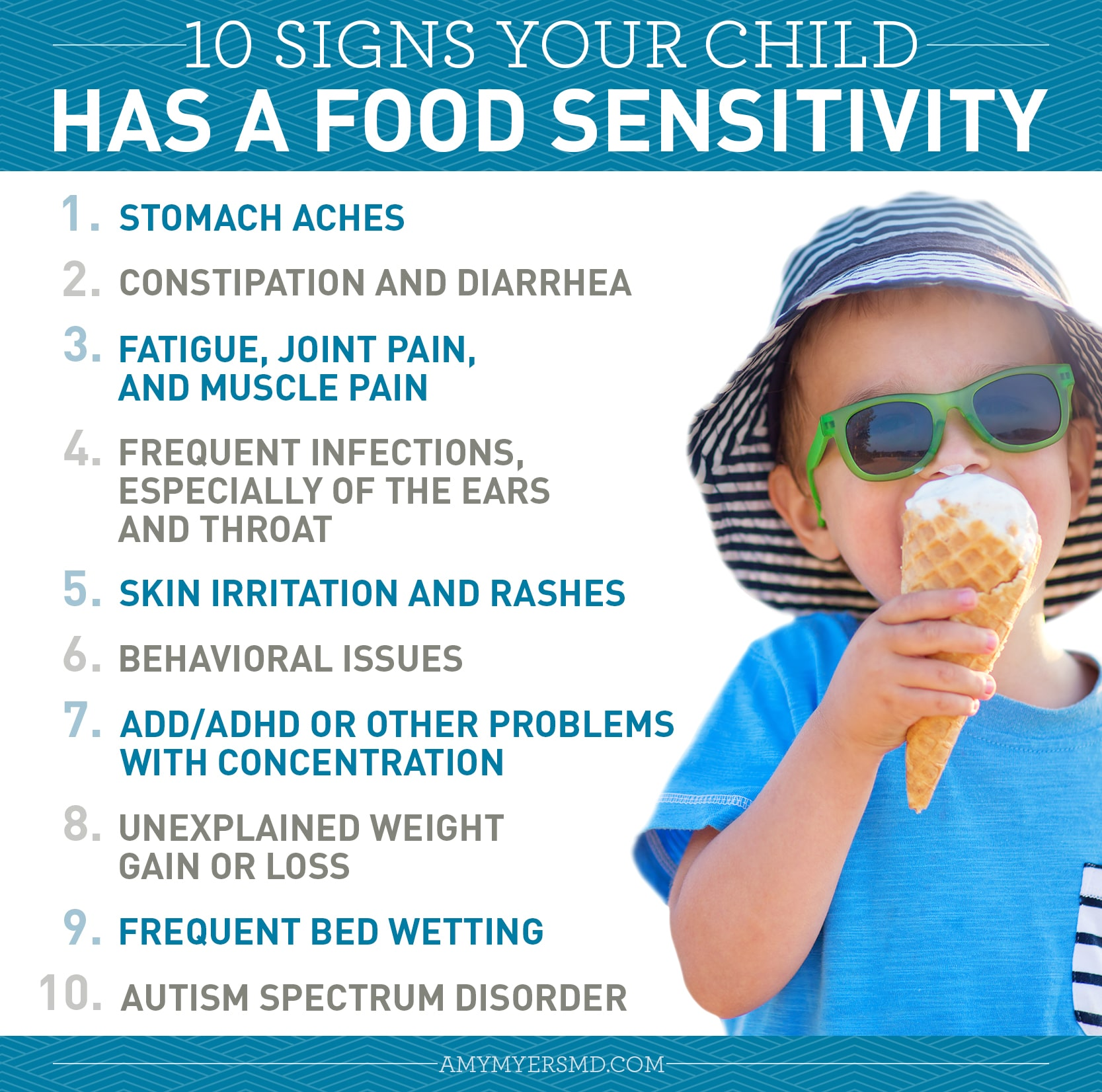 10 Signs Your Child Has a Food Sensitivity - Infographic - Amy Myers MD