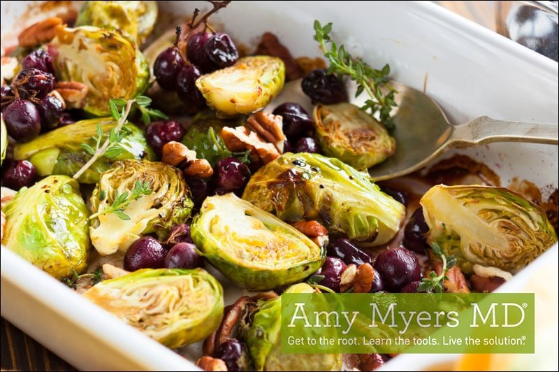 Cherry Roasted Brussel Sprouts