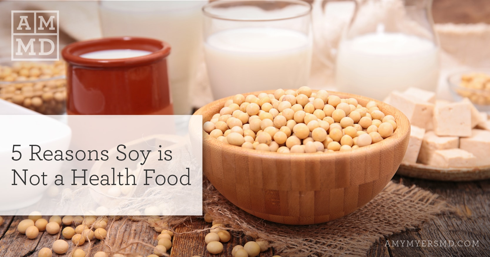 Reasons Soy is Not a Health Food - Bowl of Soybeans - Featured Image - Amy Myers MD
