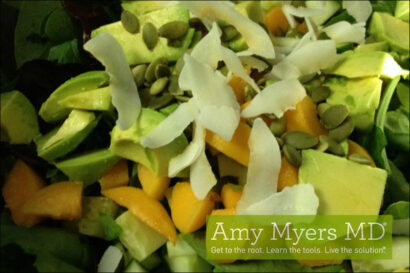 Organic Green Salad with Fresh Apricots and Pumpkin Seeds