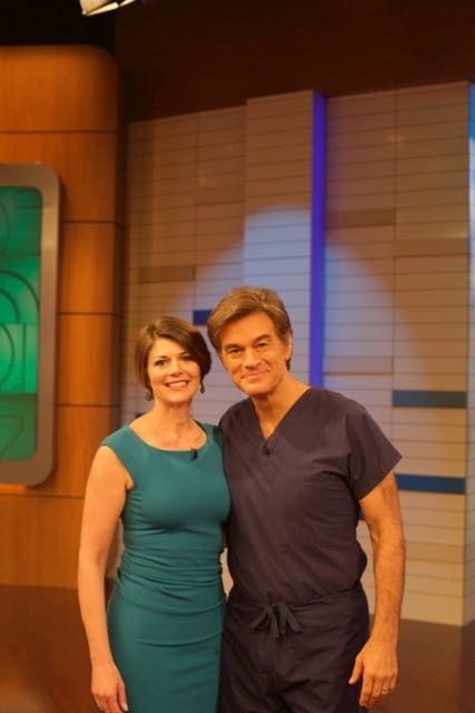 Dr Myers and Dr Oz on the Set of the Dr Oz Show - Amy Myers MD