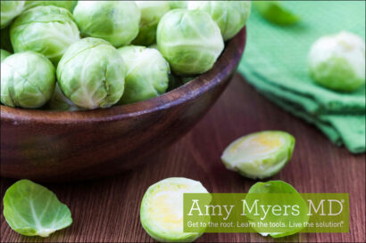 Shaved Organic Brussels Sprouts with Shiitake Mushrooms