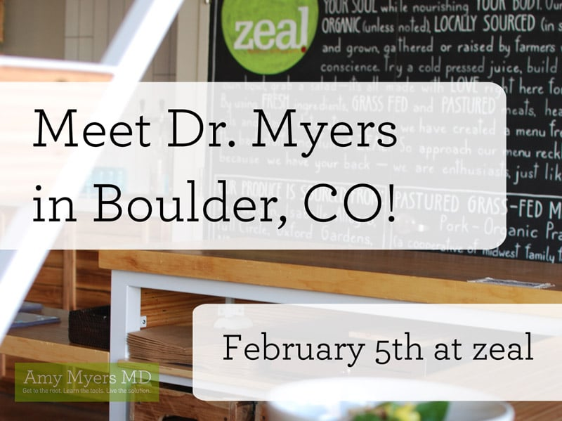 Boulder, Colorado, book signing - Promo Image - Amy Myers MD