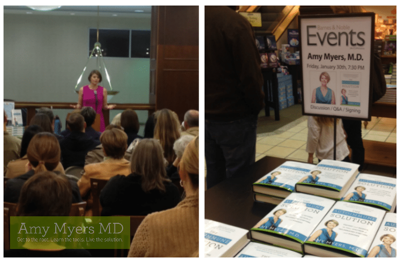 Great turnout for my first book signing! - Dr. Myers Speaking, Books on display - Featured Image - Amy Myers MD