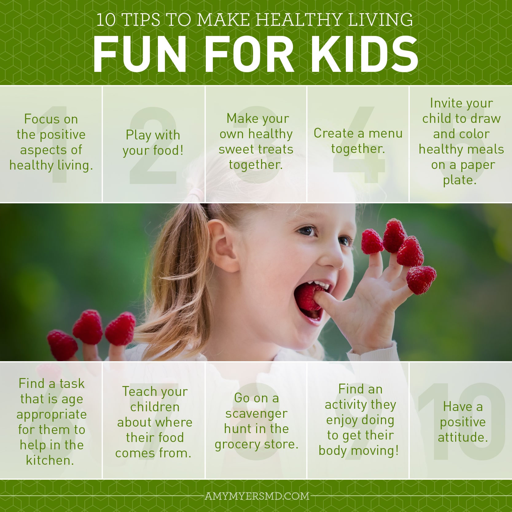 10 Tips to Make Healthy Living Fun for Kids - Infographic - Amy Myers MD