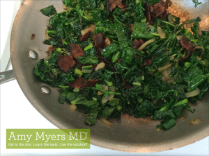 Organic Dinosaur Kale with Arugula and Nitrate-free Bacon