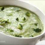 Broccoli Garlic Soup with Shredded Chicken