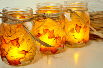 Autumn Leaf Lanterns - Amy Myers MD