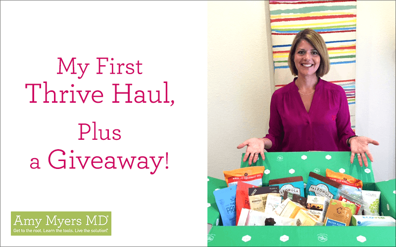 My First Thrive Haul, Plus a Giveaway! - Dr Myers with Thrive Products - Featured Image - Amy Myers MD
