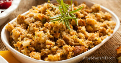 Grain-Free Bacon, Apple, and Sweet Potato Stuffing