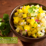 Mexican Chicken with Sliced Avocado and Mango Salsa