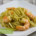 Seaweed Pesto Zucchini Noodles with Shrimp