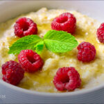 Ginger Meyer Lemon Baked Porridge
