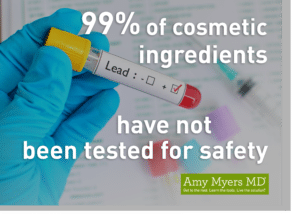 99% of Cosmetic Ingredients Have Not Been Tested for Safety - Infographic - Amy Myers MD