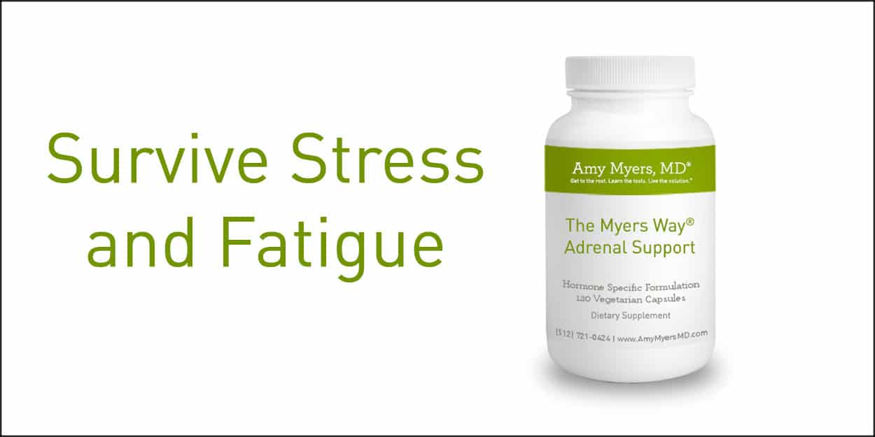 Manage Stress & Fatigue with Adrenal Support - Adrenal Support Bottle - Featured Image - Amy Myers MD