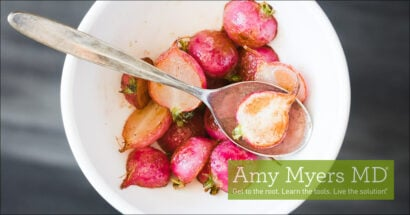 Roasted Radishes with Herbed Dressing