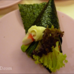 Wild-Caught Shrimp Sushi Rolls with Spinach, Carrots and Cucumber