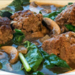 Winter Kale and Meatball Soup
