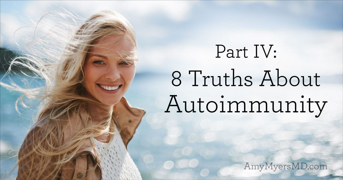 Part IV: 8 Truths About Autoimmunity - A Smiling Woman Near a Lake - Featured Image - Amy Myers MD