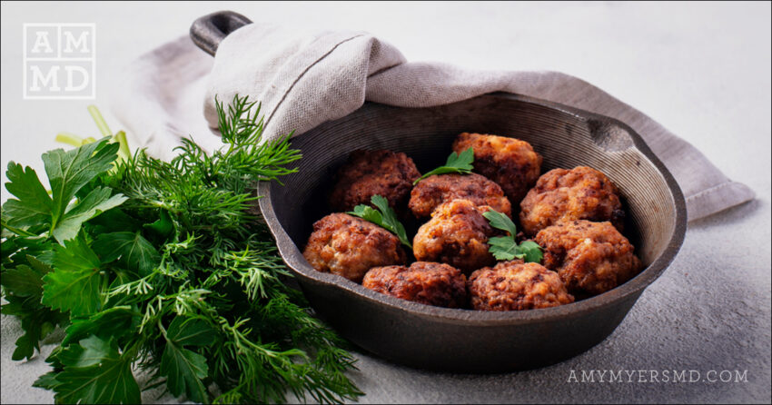 Hidden Superfood Italian Meatballs