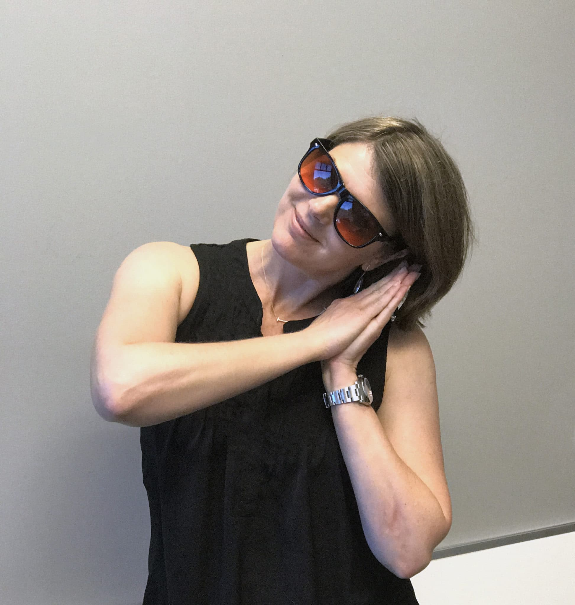 Dr Amy Myers Wearing Her Amber Glasses - Amy Myers MD