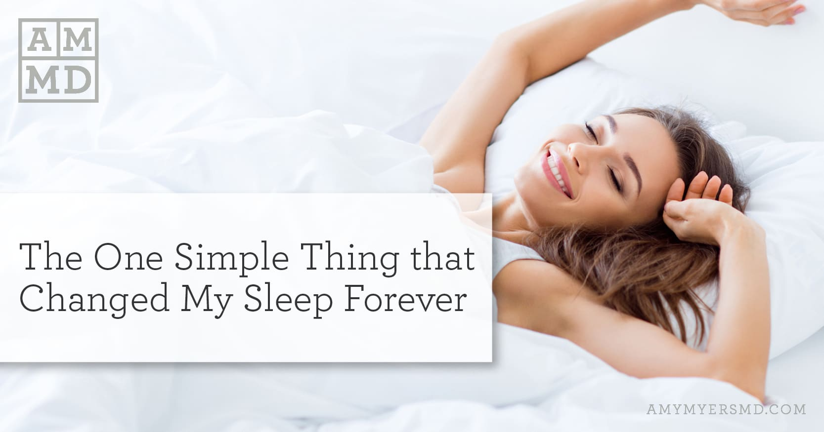 Amber Glasses: One Simple Thing that Changed My Sleep Forever - Woman enjoying sleep - Amy Myers MD