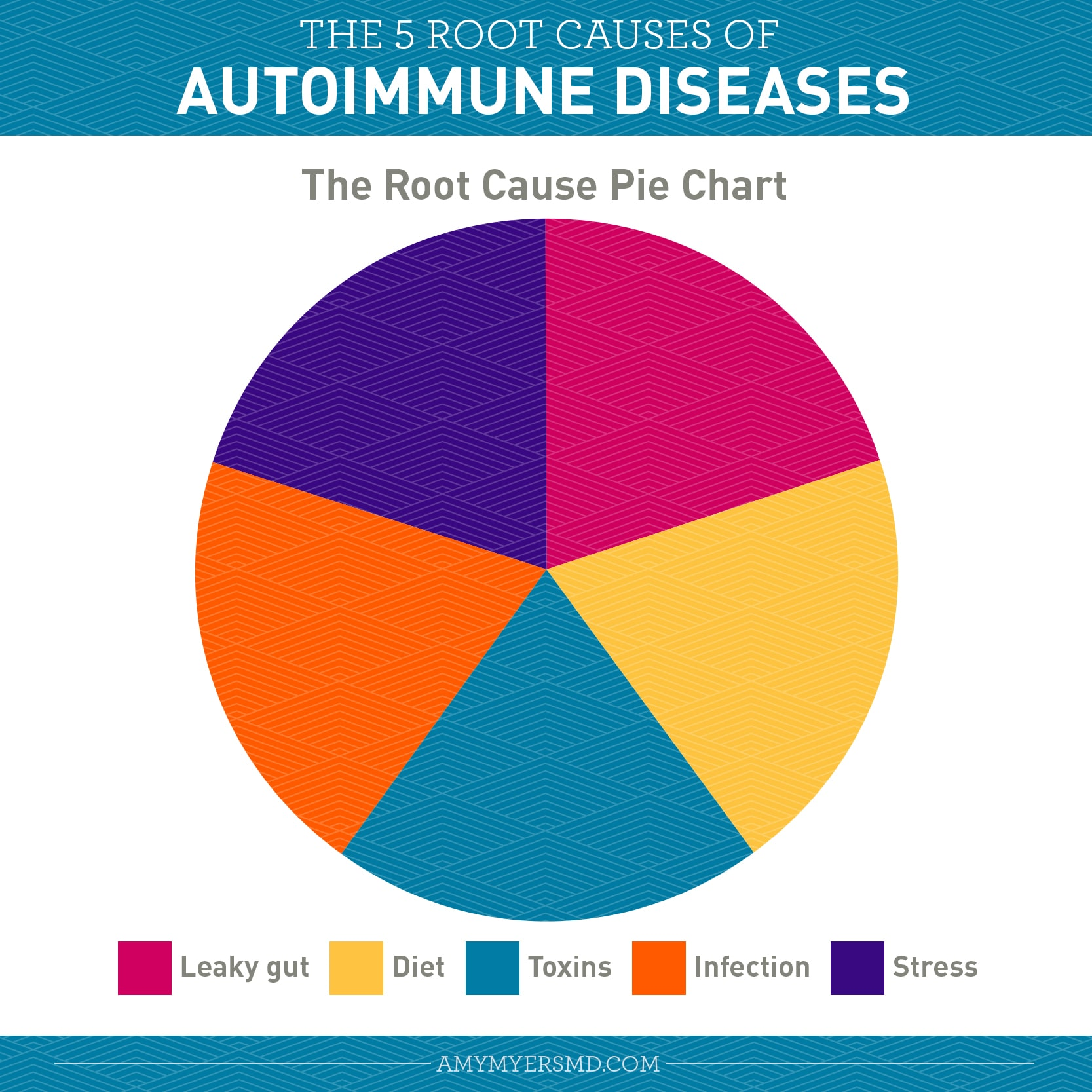 Root Causes of Autoimmune Diseases - Infographic - Amy Myers MD