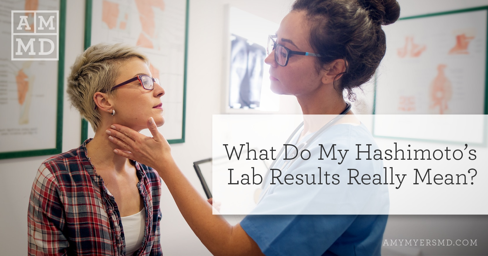 Doctor treating patient - Hashimoto's Lab Results and check-up banner image