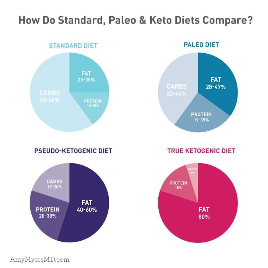Comparing Keto and Paleo Diets - Infographic - Amy Myers MD
