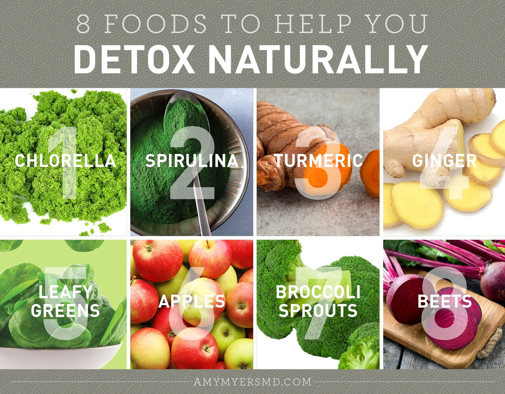 Detoxify Naturally with These 8 Foods - Infographic - Amy Myers MD