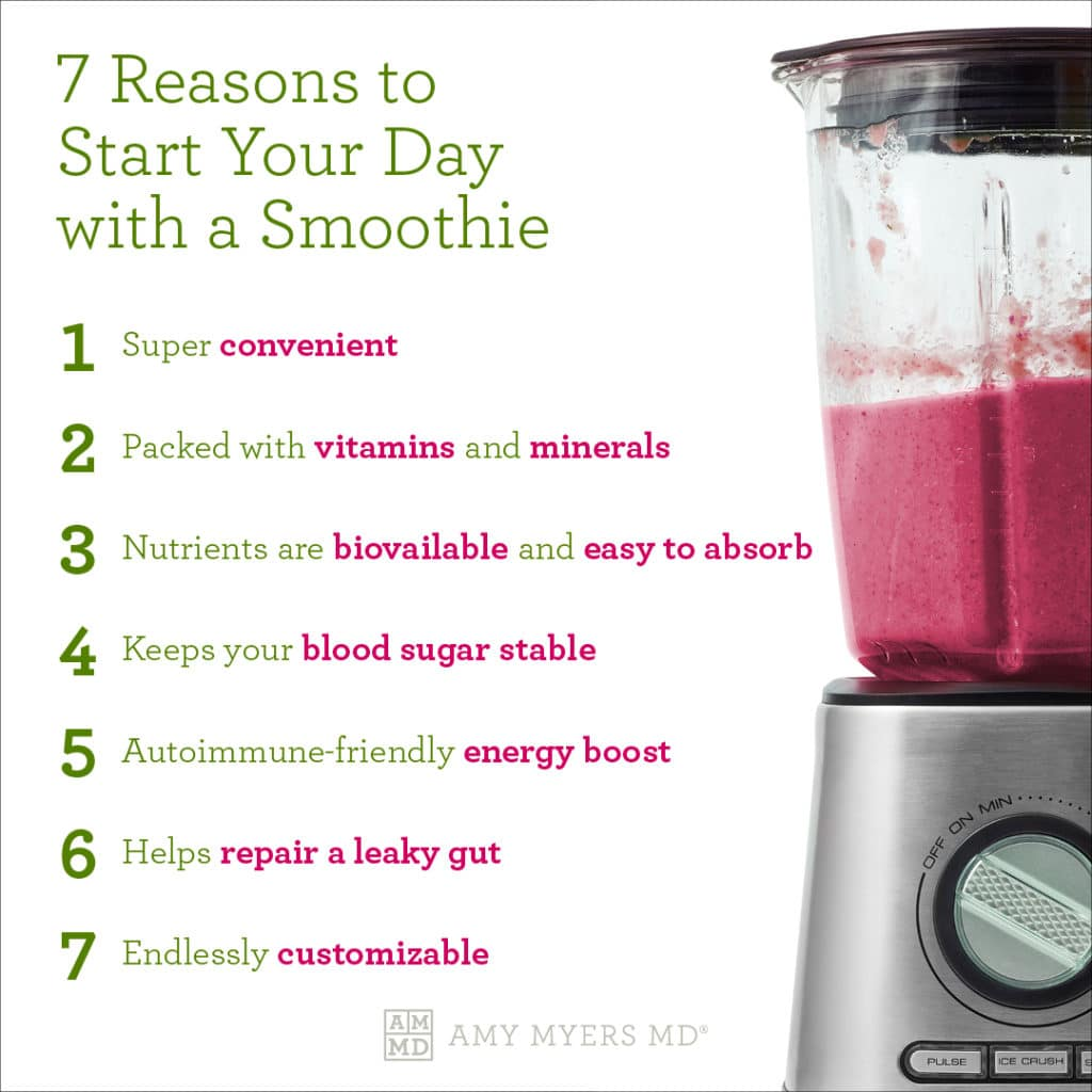 7 Reasons to Start Your Day with a Smoothie - Infographic - Amy Myers MD®