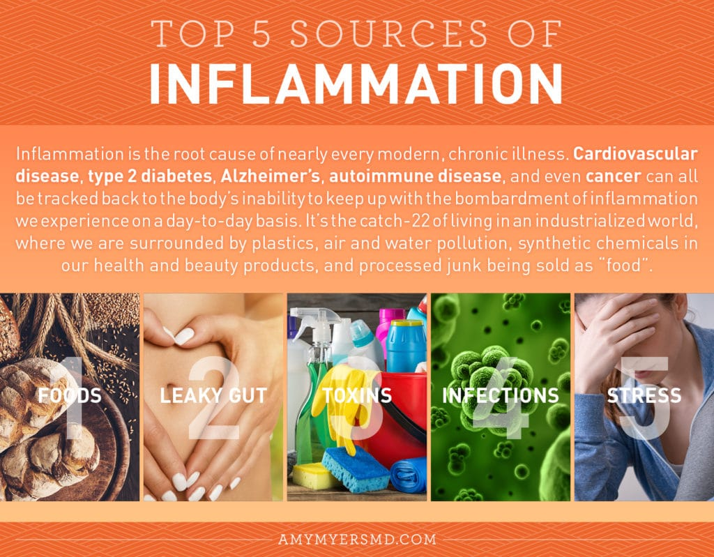 The Top 5 Sources Of Inflammation - Infographic - Amy myers MD®