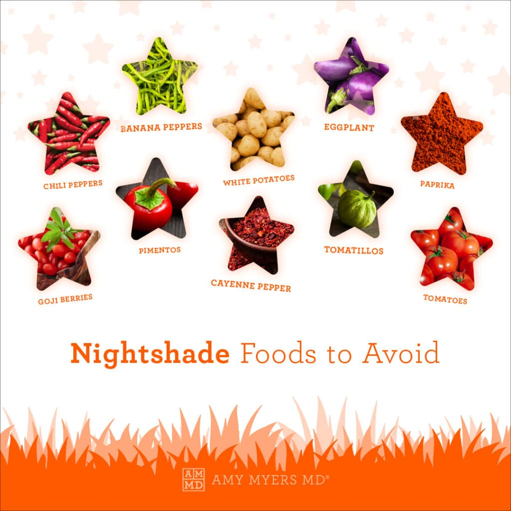 Nightshade Foods To Avoid If You Have Nightshade Sensitivity - Infographic - Amy Myers MD®