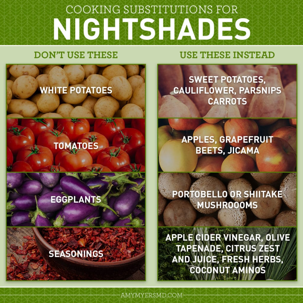 Nightshades Substitutes for Cooking - Infographic - Amy Myers MD®