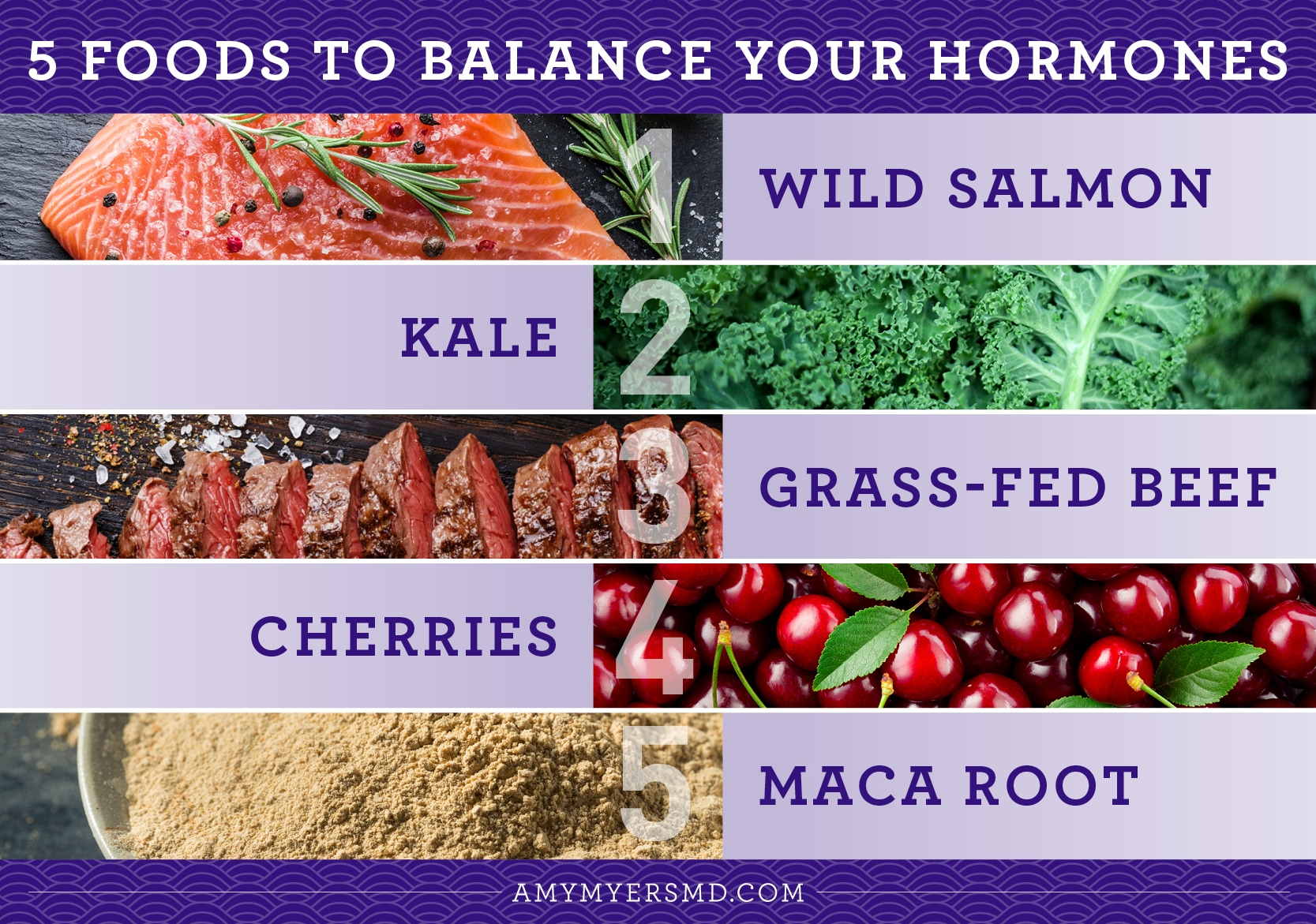 5 Foods to Balance Your Hormones - Infographic - Amy Myers MD