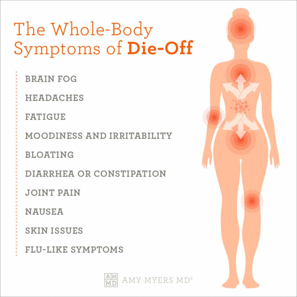 The Whole Body Symptoms of Die-off - Infographic - Amy Myers MD®