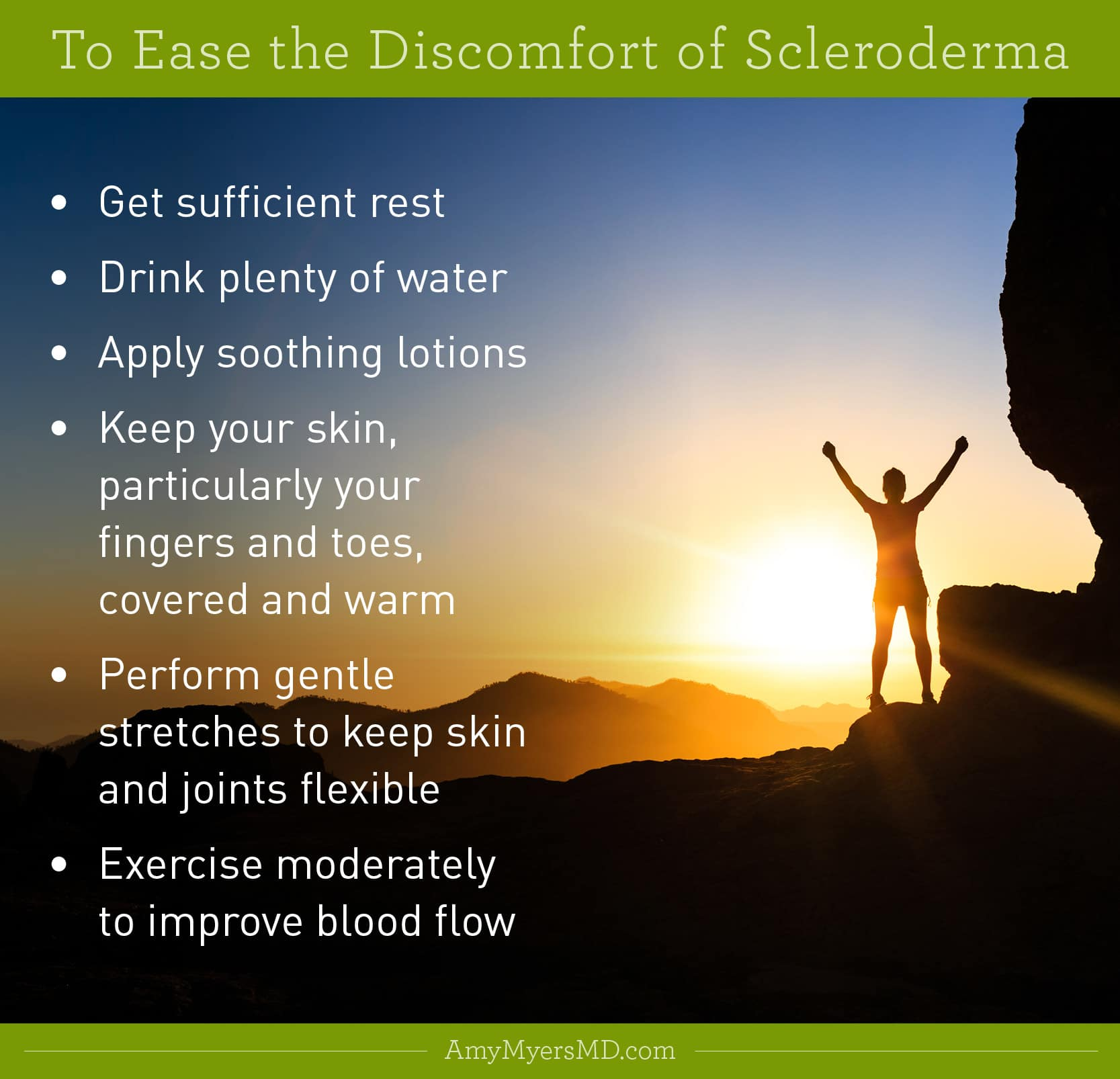 The Natural Way to Reverse Scleroderma - Infographic - Amy Myers MD