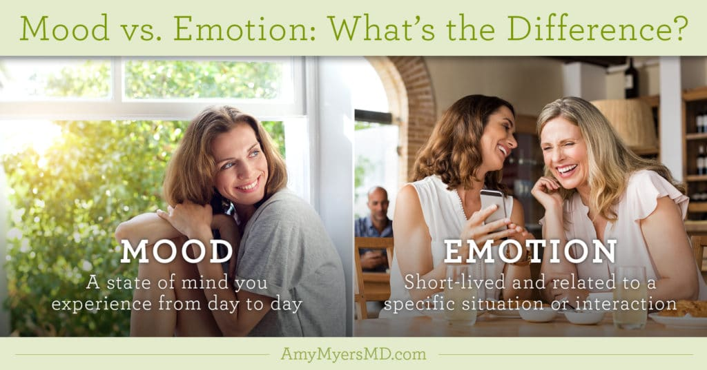 Mood vs. Emotion: What's The Difference? - Infographic - Amy Myers MD®