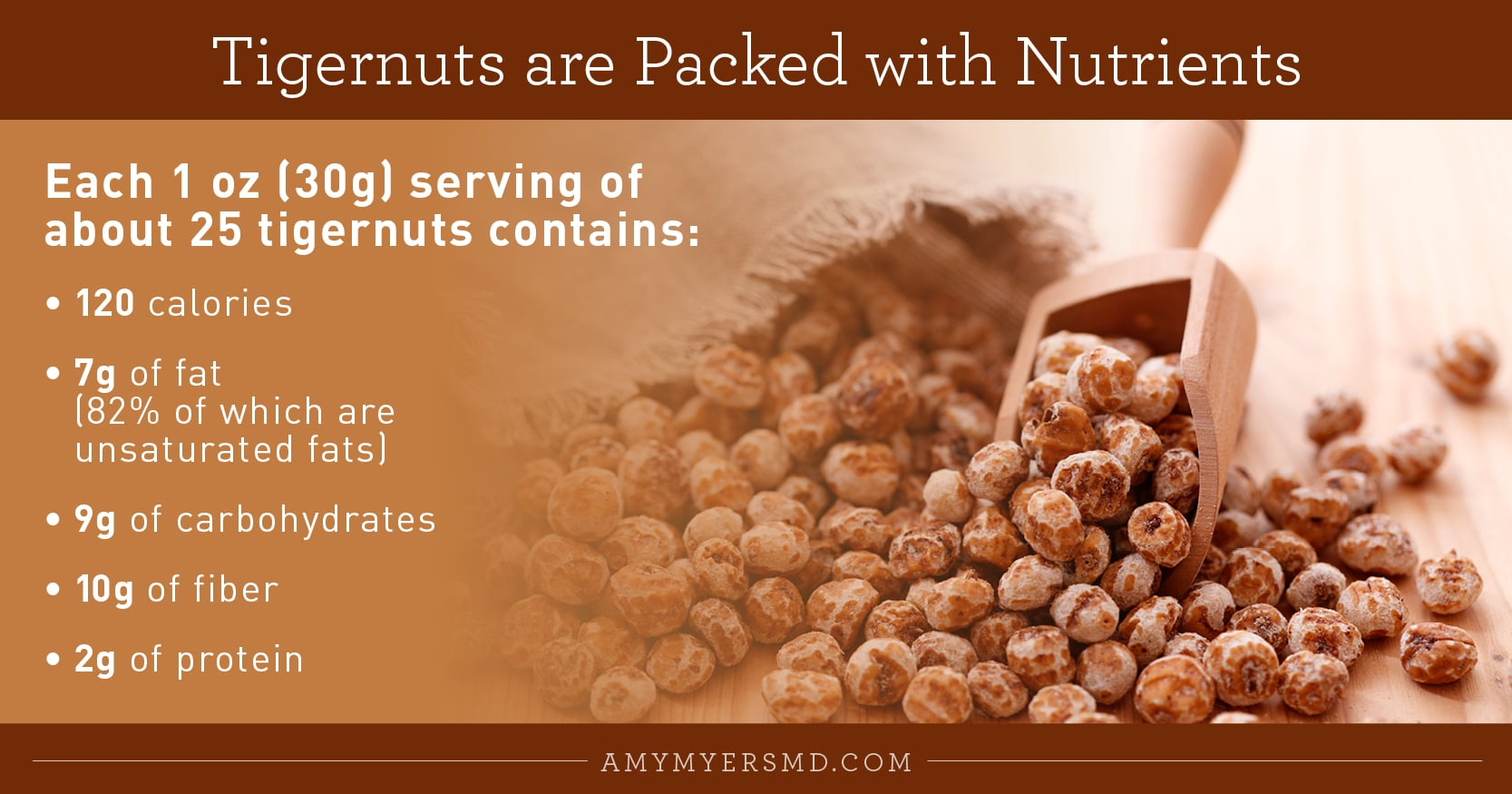 Tigernuts are Packed with Nutrients - Infographic - Amy Myers MD