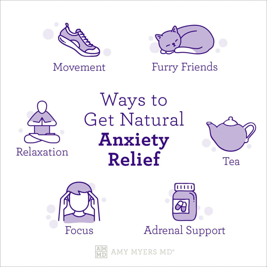 Ways to Get Natural Anxiety Relief - Infographic - Amy Myers Md®