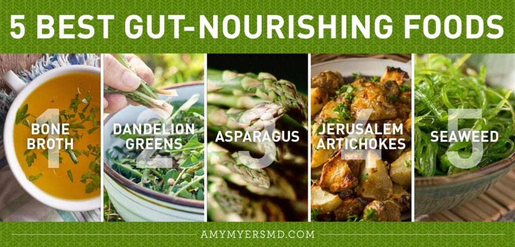 5 Best Gut-Nourishing Foods - Infographic - Amy Myers MD®