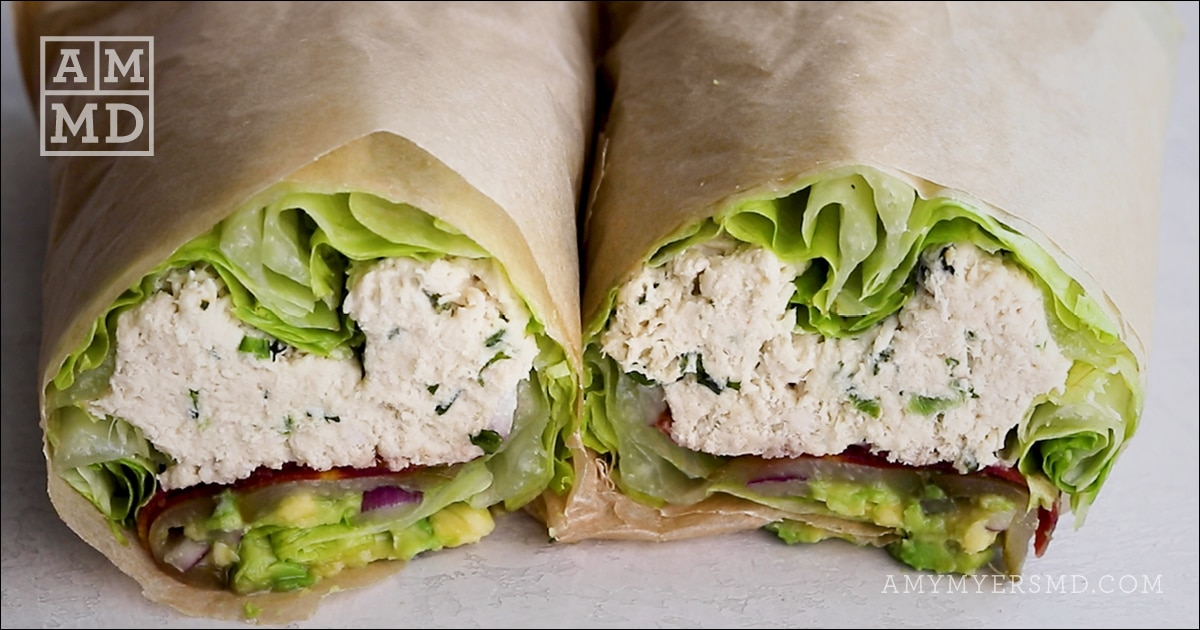 chicken salad lettuce wrap