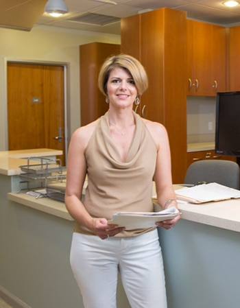 Dr. Amy Myers MD in her Austin, TX clinic