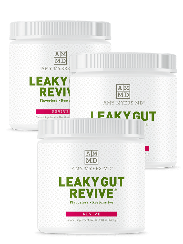 Three bottles of Leaky Gut Revive